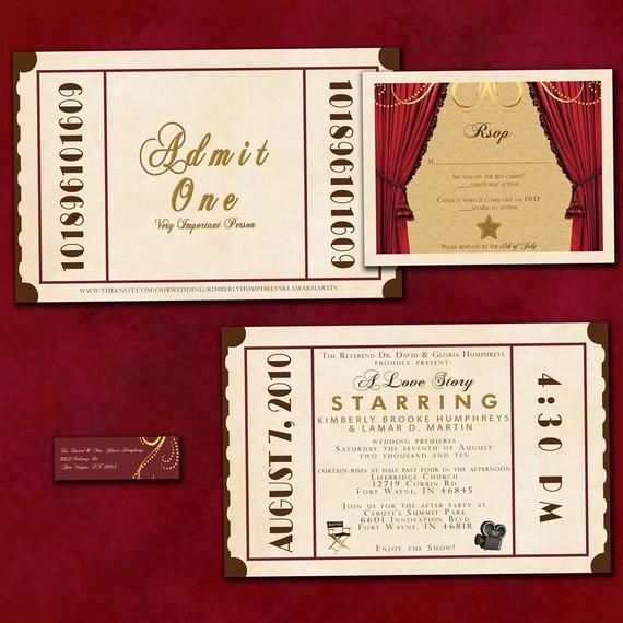 movie premiere themed wedding